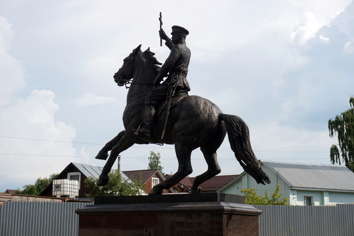 Открытие первого в мире конного памятника Императору Николаю II